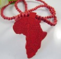 100% Free shipping &amp; HQ Hot selling Fashion jewelry NEW AFRICA Hip hop Wooden pendant necklace