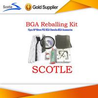 BGA Reballing Kit 15pcs 90*90mm PS3 BGA Stencils+BGA Reballing Station+BGA Accessories
