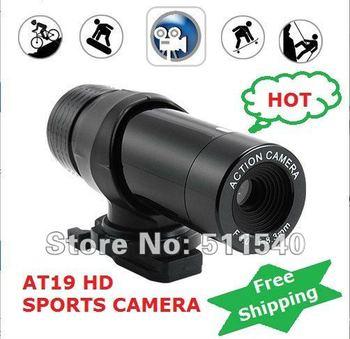hot Free Shipping Wholesale Waterproof Mini Outdoor Sports camera HD DV Action Video Camera Digital Video Recorder AT19