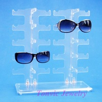 Free Shipping Sunglass Display Stand Holder For 10 Pairs 120411RY-SUNS04I