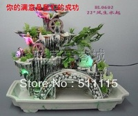 Wind rockery fountain water flowing water flowing water miniascape atomization miniascape humidifier decoration process