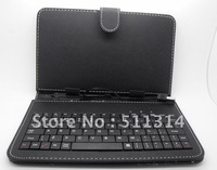 Free shipping 10 inch tablet pc keyboard leather case,leather case with USB keyboard stylus for tablet pc,MID,ePad