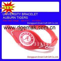 Custom college power force silicone bracelet of Alabama Crimson Tide