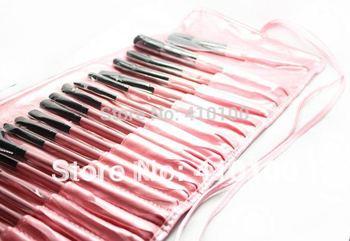Pro PINK Makeup Cosmetic Brush Kit 32 pcs Set + Soft Case 32 Pcs Makeup Brush Cosmetic set Kit  color: pink