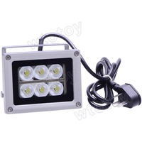 6W 6500K 600-Lumen 6-LED White Light Lamp - Silver (AC 85~265V)  11603