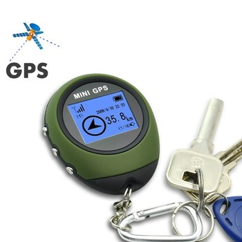 GPS Receiver + Location Finder Keychain (PG03 Mini GPS) With High Quality  FREE SHIPPING outdoor mini gps location finder
