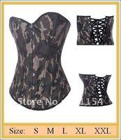 Free shipping! Sexy Lingerie Camo Burlesque Corset !wholesale