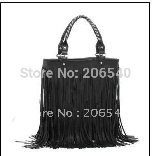 BN! Fashion Women Punk Tassel Fringed Handbag Tote Shoulder Purse Bag Moonar