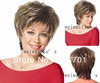 Women Nice ash blonde color wig short curly  Brown roots with pale blonde tips lady hair wigs synthetic  Free Shipping