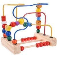 Candice guo! Educational wooden toy around beads the fruit birds and flowers move round the pearl calculating frames