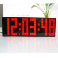 Hot selling Large Led Digital Wall Sticker Home Decaration Wall Clock.