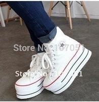 free shipping leisure  women Shoes fashion High Heel Platform Shoes Sneakers women size 35-39 three colors