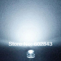 1000 PCS 5mm Straw Hat White WATER CLEAR LEDS LED DIODE 1800-2000 mcd