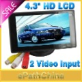 Sale! High Quality 4.3&#39;&#39; Car Parking Rear View Monitor for Reverse Camera DVD, HD TFT LCD Display 2 Video Input, Free Shipping