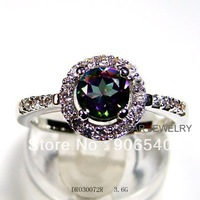 Hot sale Silver Ring Mystic Stone Jewelry Rings DR030072R free Shipping