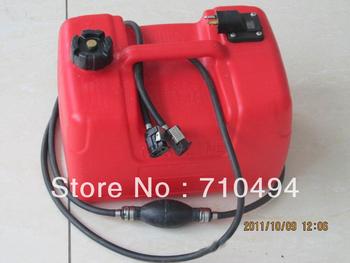3,17 o galão de combustível tanque de gasolina para o motor de popa do barco com conector, 12 litros do tanque de combustível para motor de popa de barco