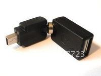 USB 2.0 Female Flexible Angled 360D to MINI USB Male Adapter