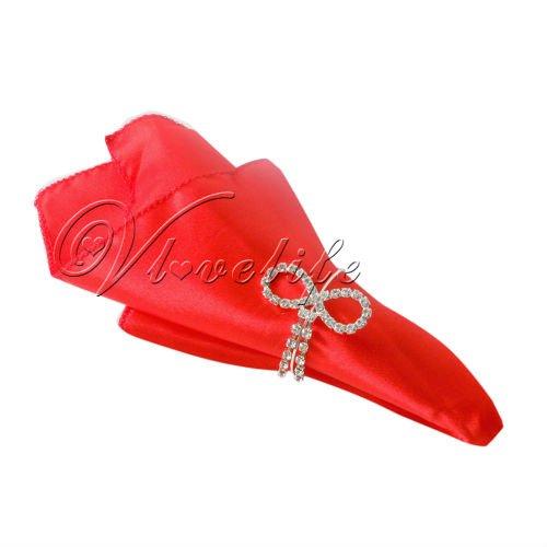 "Free shipping 50PCS Red 12"" Satin Square Handkerchief Hanky Napkins 30cm Wedding Party(China (Mainland))"