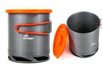 Outdoor Portable Heat Exchanger Pot,Camping Pot,Outdoor Kettle 1L FMC-XK6