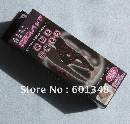 Free shipping!5pcs/lot&,beauty sliming clothes, beauty products,hip,leg,sleeping pant,black(China (Mainland))
