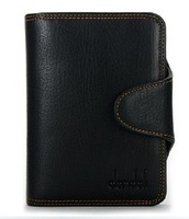 Free shipping 2012 new stylish Mens Genuine Leather Wallet Pockets RFID Card Clutch Cente Bifold Purse ,wholesale 236-931