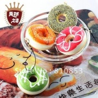 10pcs/lot Free Shipping Swiss Roll Cake Squishy Charm Cell Phone Straps Squishies Food Squishy Phone Chains  Wholesale #0827