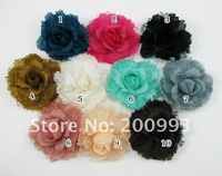 "10Piece/lot 5"" Big Artificial Flower clips & brooch pins hair accessories bows Boutique Barrette FL017"