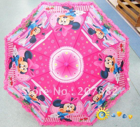 Ücretsiz shiping moda mickey mouse karikatür şemsiye düz şemsiye