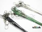 Free Shipping 60PCS/lot  Fishing Lure Trace Wire Leader Swivel Tackle Spinner Shark Spinning expert 15CM, 20CM, 25CM AAA(China (Mainland))