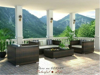 PE rattan outdoor furniture,Garden Sofa,YSF-N095,OEM