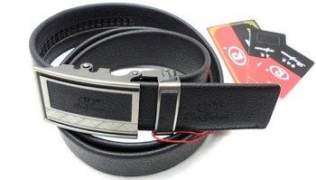 Free shipping100%   Men's  bag edge automatic buckle genuine leather belt black  balescatch  No cut