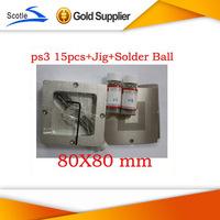 BGA Reballing Kits 15pcs 80*80 BGA Stencil for Ps3+BGA Reballing Jig+Solder Ball