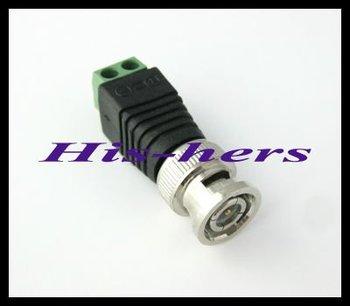 Wholesale 10pcs Mini Coax CAT5 To Camera CCTV BNC Video Balun Connector Adapter