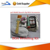 BGA Reballing Kits 15pcs 80*80 BGA Stencil for Ps3+BGA Reballing Jig+BGA Accessories