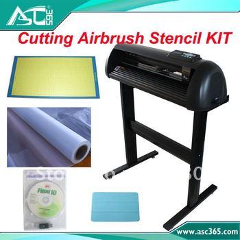 "24"" 1000g Pressure Cutting Plotter FlexiStarter 10  Mylar Airbrush Stencil KIT"