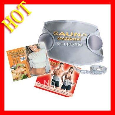 Velform Sauna Massage Belt,Professional Slimming Belt Body Massager Wholesale 60pcs/lot Free Shipping(China (Mainland))
