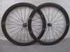 New carbon bike wheelset/3k matte/all black/tubular profile 50mm deep 700C 2013