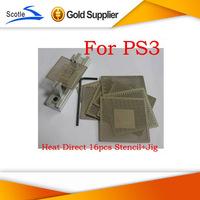 BGA Reballing Kits 16pcs Heat Direct BGA Stencil for Ps3+BGA Reballing Jig