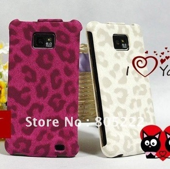Original FEDDIST Leopard leather case for samsung I9100 wallet pouch women handbags Skin case perfume luxury smartphone cover