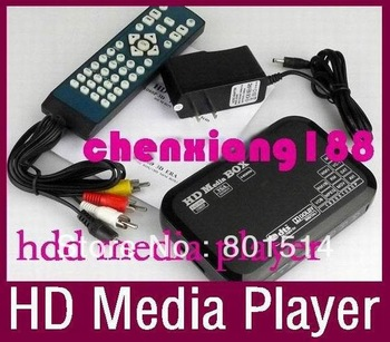 1080P full hdd multimedia player support Blueray hdmi, vga, mkv hdd media player 20pcs/lot in stock DHL Free
