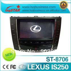 free shipping and have stock car dvd player for lexus IS250 with gps navi+ipod+analog tv+bluetooth+radio+sd+usb(China (Mainland))