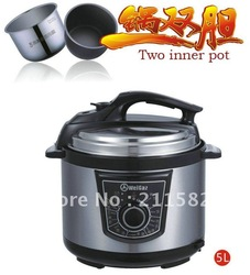 5LWGZ50-90 Two inner pot,electric pressure cooker,pressure cooker recipe,pressure cooker cake(China (Mainland))
