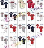 Free shipping-Wholesale Atlanta Braves Team White/Grey/Red/Blue/Cream jerseys,Braves jerseys,10Pcs/Lot