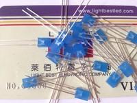 2x5x7 Rectangular type LED,Blue Color, 460~470nm,Blue Diffused Lens,2.9~3.3V,200~250mcd,120deg