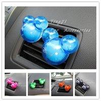 Free shipping !Hot sale! Car perfume Cute Mickey Cartoon  Air Freshener/Car Accessories/2box/lot 6 color(2pcs/box)