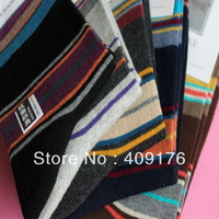 New Arrival Fashion Colorful Stripe Cotton Socks Thick Warm Men Ankle Sox 20pairs/lot Free Shipping