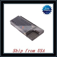 Free Shipping + Wholesale Laptop Battery For Dell Latitude D630 D620 PC764(6cell 11.1V 5200mAh )Silver Ship from USA-N3432