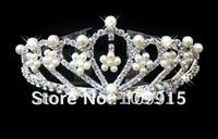 Fashion Rhinestone Crown Tiara Hair Headband Comb  Free Shipping LKT0036