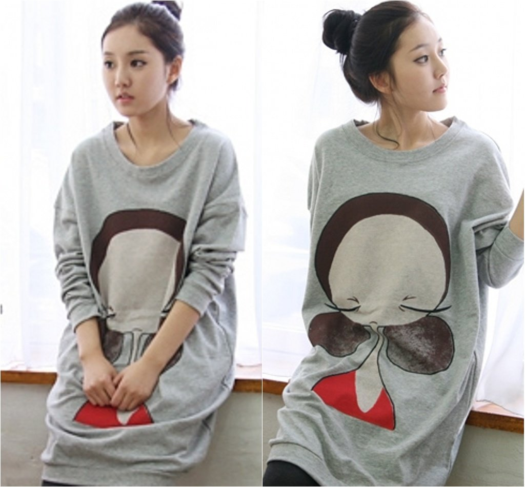 Pregnant Women T shirt Casual Maternity dress Tops Tshirts Cute Cartoon girl print Mother's clothing Gravida Clothes Loose DA702(China (Mainland))