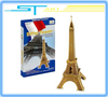 LINGLESI D102 3D puzzle paper craft Eiffel Tower DIY 3D three-dimensional puzzle Building model Educational Toy free shipping